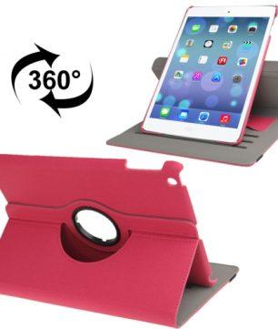 Handige Draaibare Hoes voor de Apple iPad Air met Pinpas vakken - Magenta