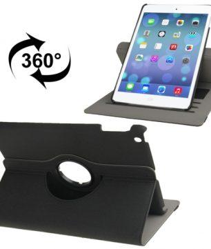 Handige Draaibare Hoes voor de Apple iPad Air met Pinpas vakken - Zwart