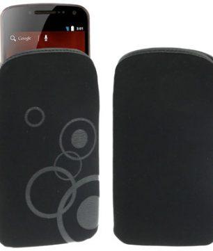 Lederen Pouch met Pull Tab voor Samsung Galaxy S3/i9300, Galaxy Nexus/i9250 / Nexus Prime/i515 Zwart
