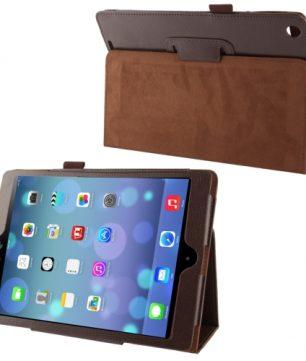 Mooie Lederen Flip Hoes voor de Apple iPad Air - Bruin