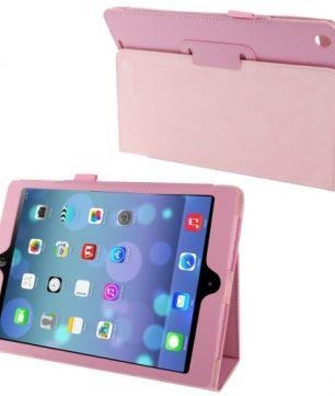 Mooie Lederen Flip Hoes voor de Apple iPad Air - Roze