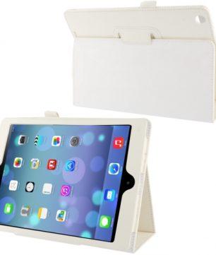 Mooie Lederen Flip Hoes voor de Apple iPad Air - Wit