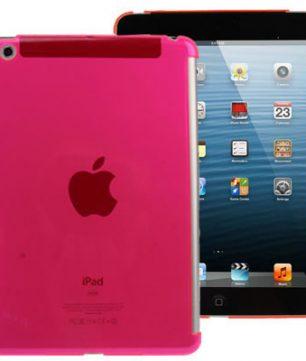 Pure Color Crystal Hardcase voor iPad Mini Magenta