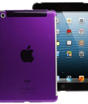 Pure Color Crystal Hardcase voor iPad Mini Paars