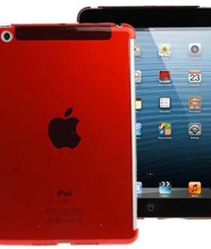 Pure Color Crystal Hardcase voor iPad Mini Rood