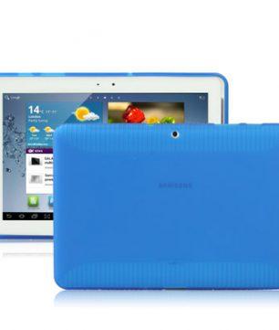 Samsung Galaxy Tab 2 10.1 / P5100 - Anti-slip TPU Hoes Blauw