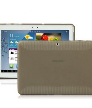 Samsung Galaxy Tab 2 10.1 / P5100 - Anti-slip TPU Hoes Donker Grijs