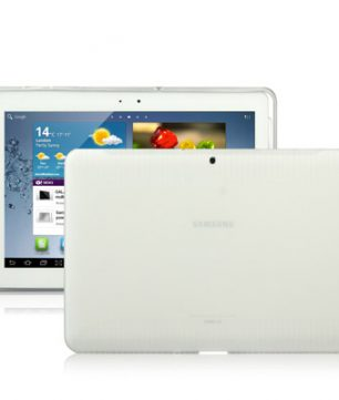 Samsung Galaxy Tab 2 10.1 / P5100 - Anti-slip TPU Hoes Wit
