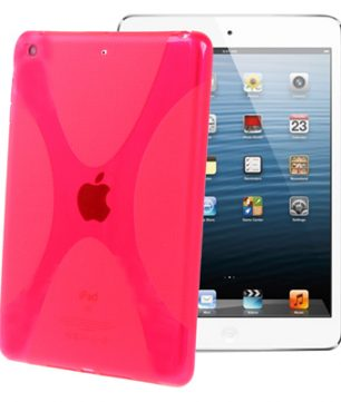 X-Line Back Cover voor iPad Mini Magenta