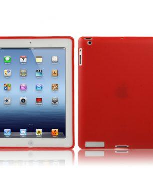 iPad 2/3/4 TPU beschermhoes Smart Cover Rood