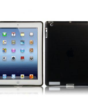 iPad 2/3/4 TPU beschermhoes Smart Cover Zwart