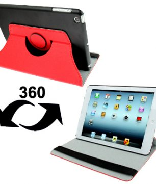 iPad Mini Ultra Dunne Leder Case met houder Rood