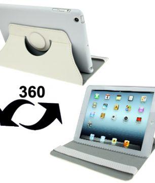 iPad Mini Ultra Dunne Leder Case met houder Wit
