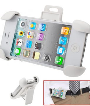 iPhone 4/4S Beschermhoes met  Broekriem Clip Wit *