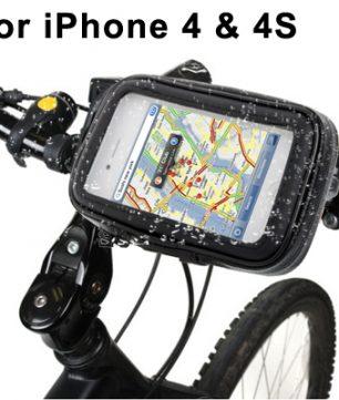 iPhone 4/4S Fiets Mount met Waterdichte Hoes
