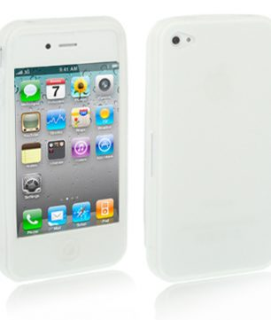 iPhone 4/4S Siliconen Hoes Wit