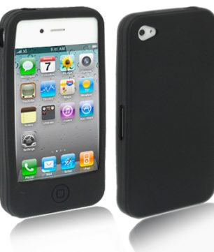 iPhone 4/4S Siliconen Hoes Zwart