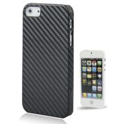 iPhone 5 Carbon Look plastic Hoes Zwart