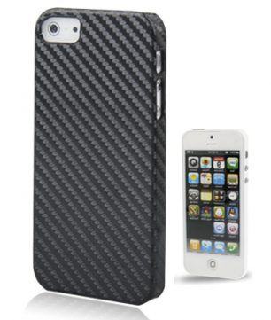 iPhone 5 Carbon Look plastic Hoes Zwart