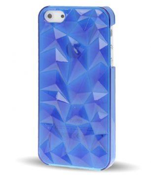 iPhone 5 Doorschijnende Crystal 3D Hoes Blauw