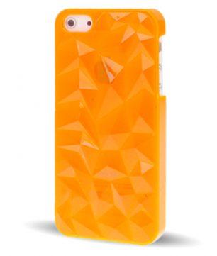 iPhone 5 Doorschijnende Crystal 3D Hoes Oranje