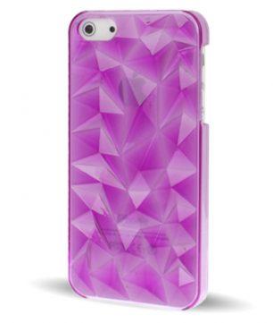 iPhone 5 Doorschijnende Crystal 3D Hoes Paars