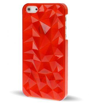 iPhone 5 Doorschijnende Crystal 3D Hoes Rood