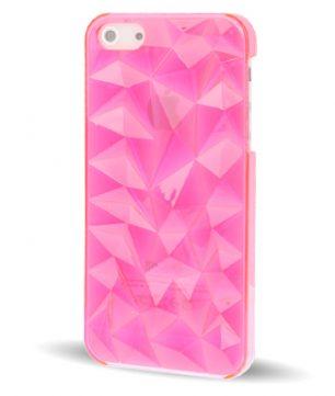 iPhone 5 Doorschijnende Crystal 3D Hoes Roze