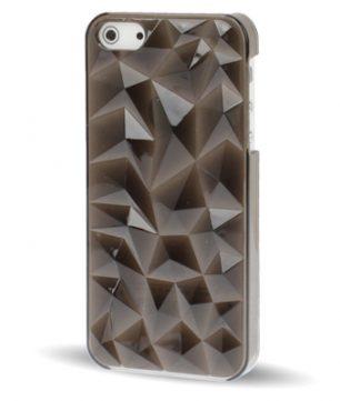 iPhone 5 Doorschijnende Crystal 3D Hoes Zwart
