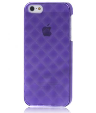 iPhone 5 Doorschijnende Hoes - Frosty Paars
