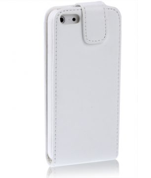 iPhone 5 Flip Case Leder stijl Wit