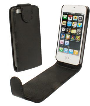 iPhone 5 Flip Case Leder stijl Zwart