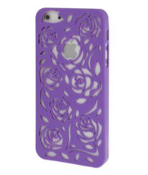 iPhone 5 Holle Warmte doorlatende Hoes- Bloemen Paars