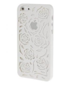 iPhone 5 Holle Warmte doorlatende Hoes - Bloemen Wit