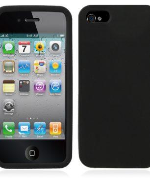 iPhone 5 Siliconen Hoes Zwart