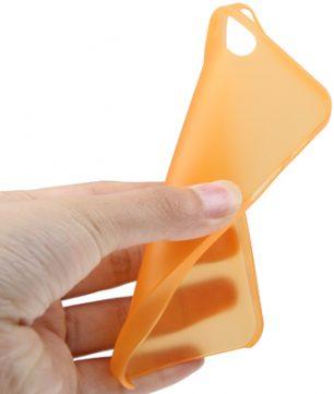 iPhone 5 Ultra Dunne TPU beschermhuls Oranje