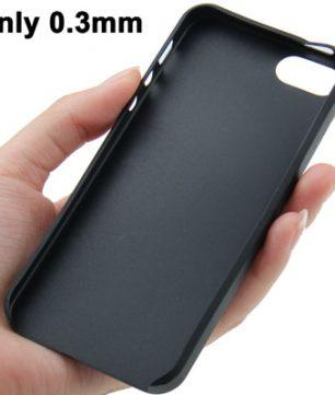 iPhone 5 Ultra Dunne TPU beschermhuls Zwart