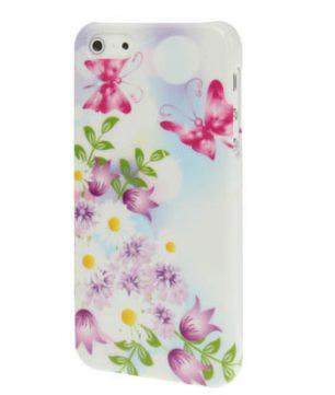 iPhone 5 kunststof Back Cover Vlinder Flora
