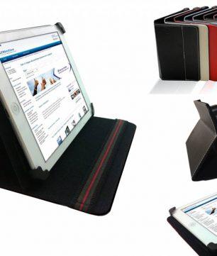Hoes met verplaatsbare klittenbandhoekjes voor Bookeen Cybook Odyssey HD Frontlight