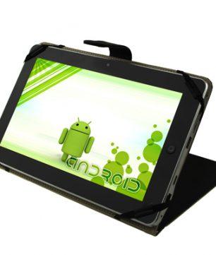 Lederen Hoes / Tablet Standaard voor 10.1/10.2 Inch Tablets Zwart