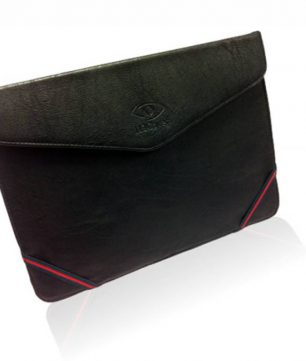 Leren Tablet Sleeve met Stand voor Salora Tab1012