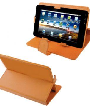 Universele hoes en standaard voor 7 Inch Tablets / E-Readers Oranje