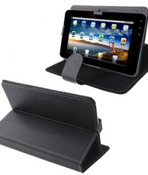 Universele hoes en standaard voor 7 Inch Tablets / E-Readers Zwart